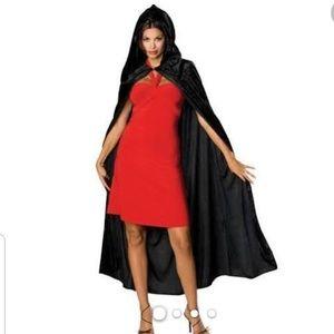 Halloween Black Velvet Cape